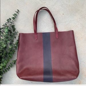 Madewell Paint Stripe Transport Tote